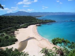 Waimea Bay from Cliff